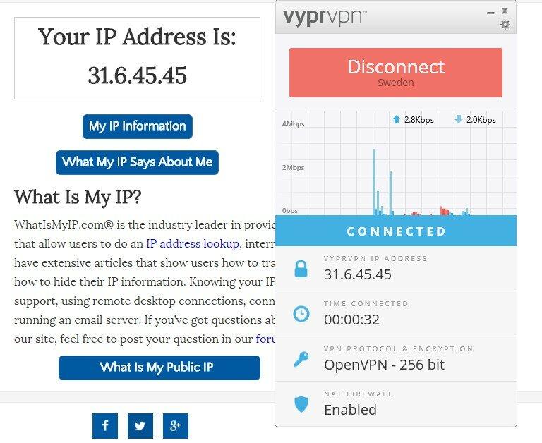 VyprVPN IP Test